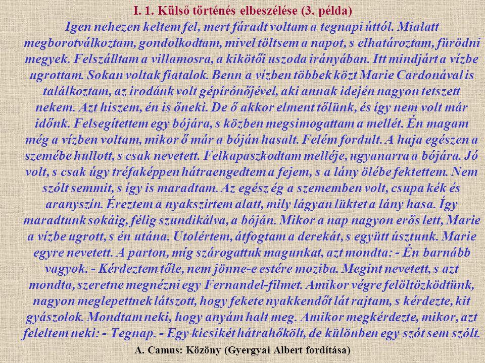 A. Camus: Közöny (Gyergyai Albert fordítása)