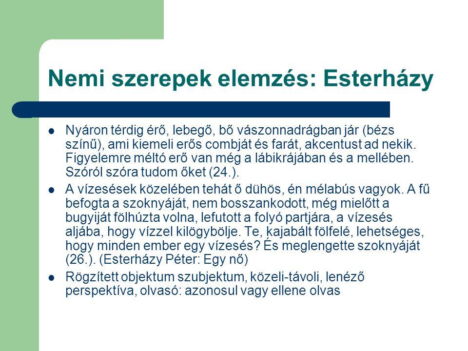 Nemi szerepek elemzés: Esterházy