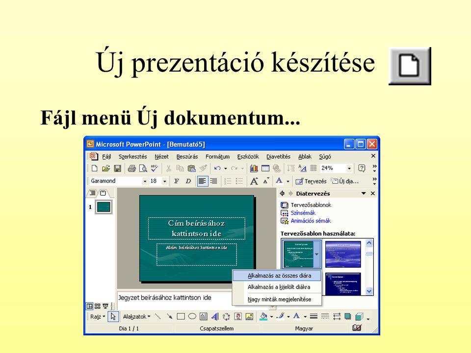Új prezentáció készítése