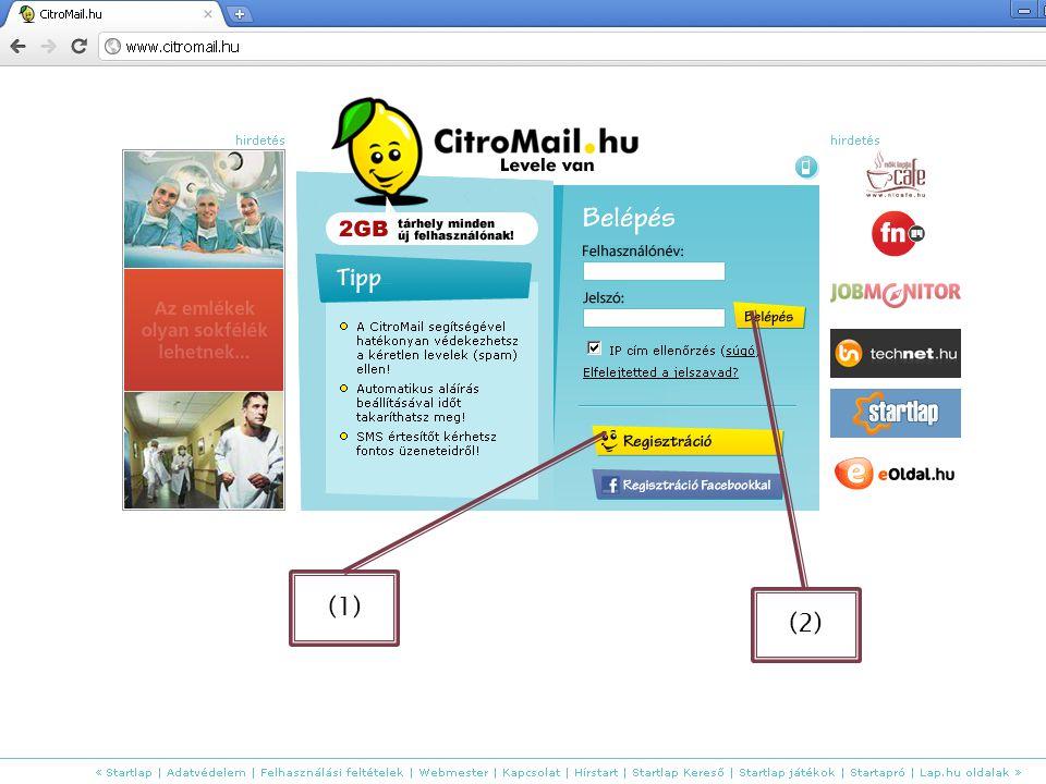 Egy utolsó példa a WWW. citromail