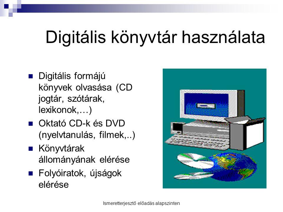 Digitális könyvtár használata