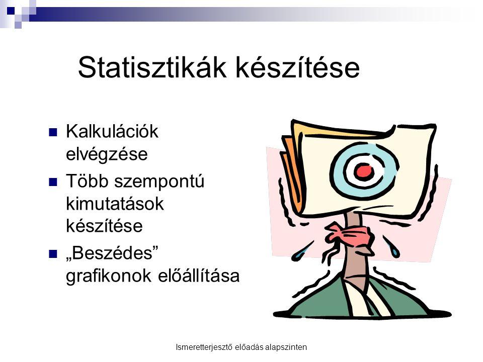 Statisztikák készítése