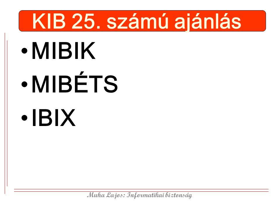 KIB 25. számú ajánlás MIBIK MIBÉTS IBIX
