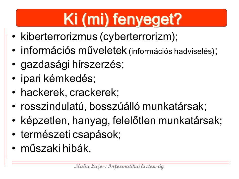 Ki (mi) fenyeget kiberterrorizmus (cyberterrorizm);