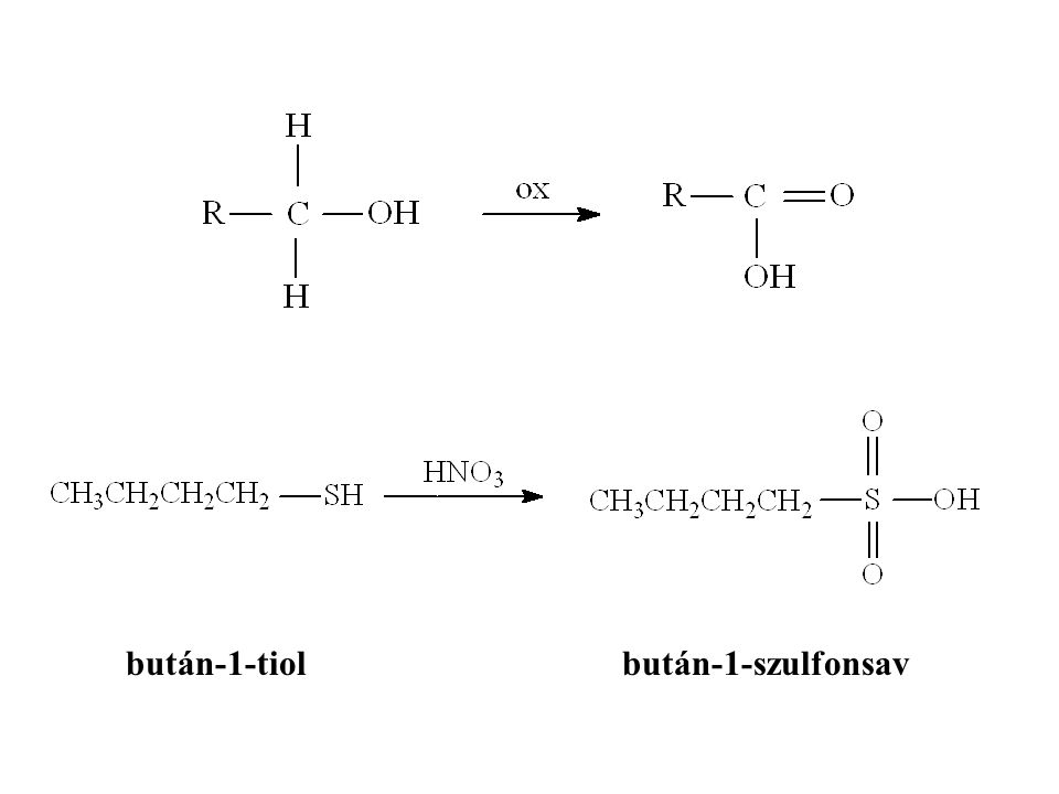 bután-1-tiol bután-1-szulfonsav