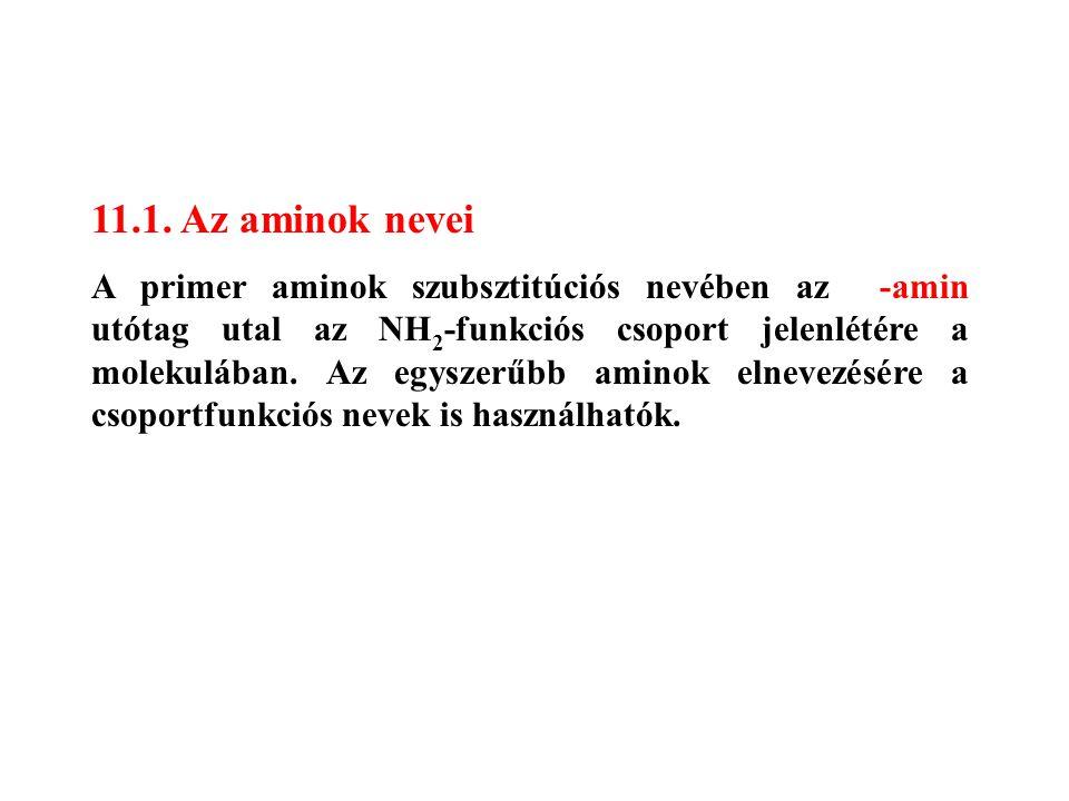 11.1. Az aminok nevei
