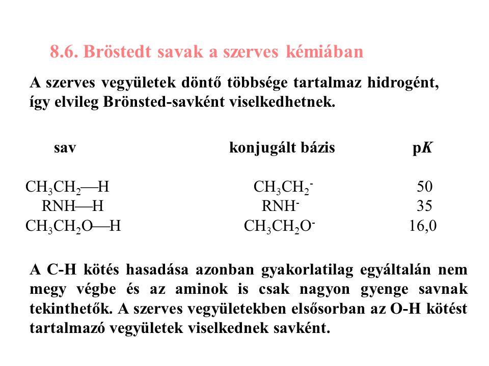 8.6. Bröstedt savak a szerves kémiában
