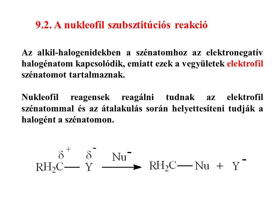 9.2. A nukleofil szubsztitúciós reakció