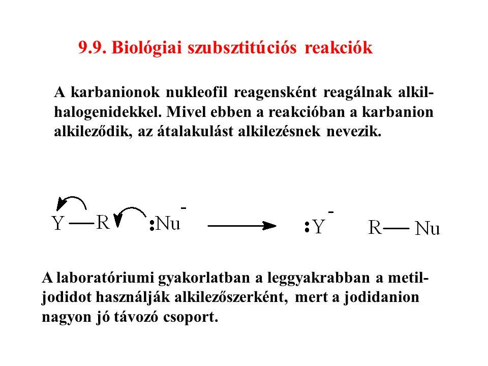 9.9. Biológiai szubsztitúciós reakciók