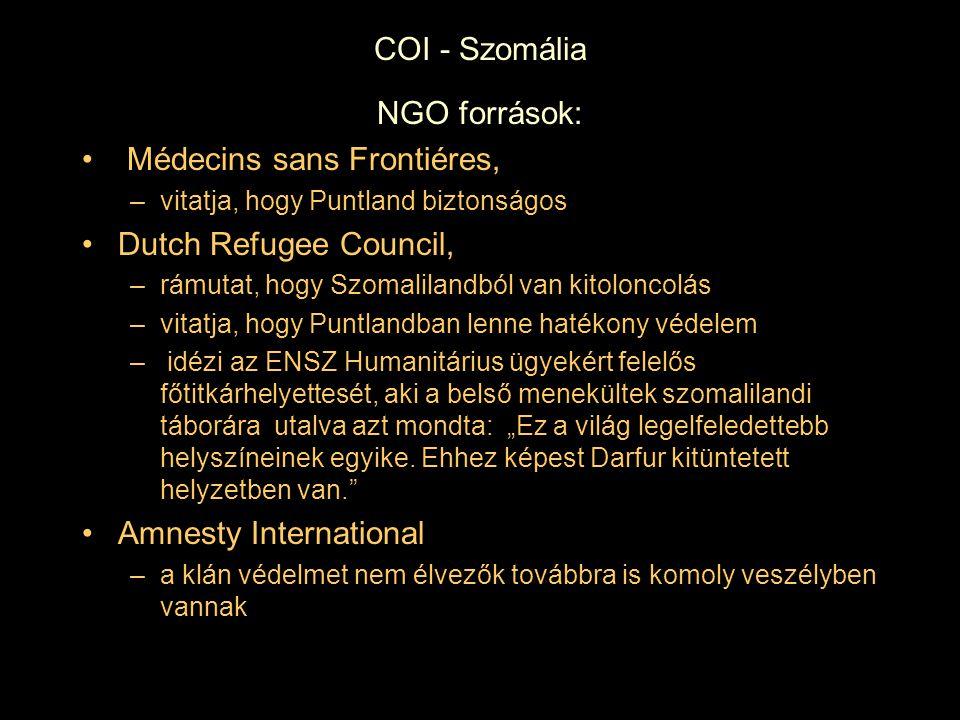 Médecins sans Frontiéres, Dutch Refugee Council,