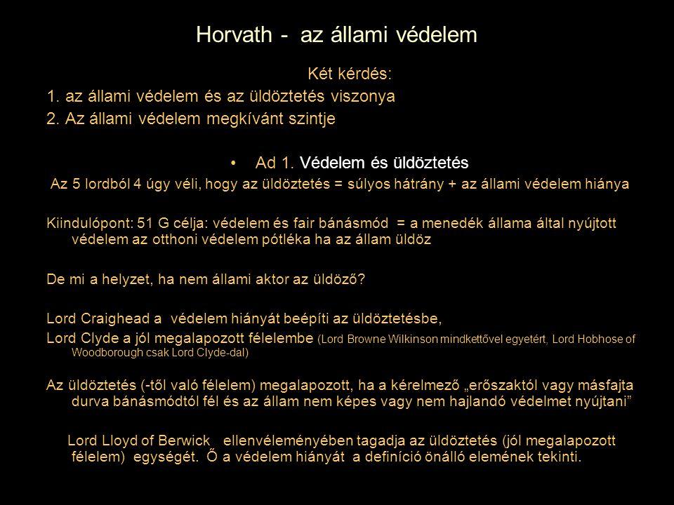 Horvath - az állami védelem