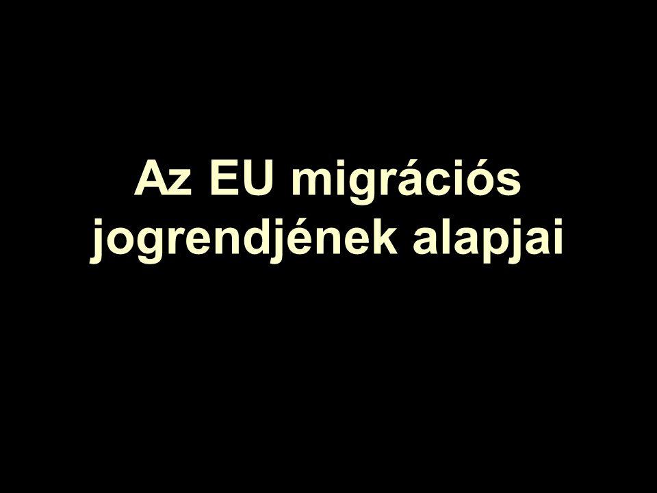 Az EU migrációs jogrendjének alapjai