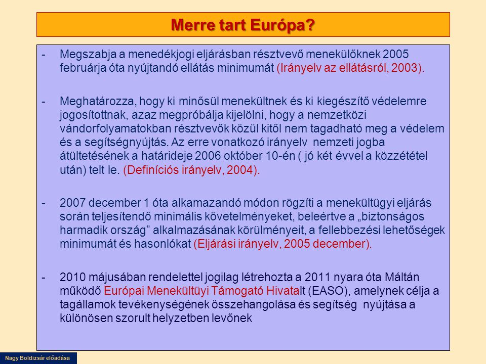 Merre tart Európa