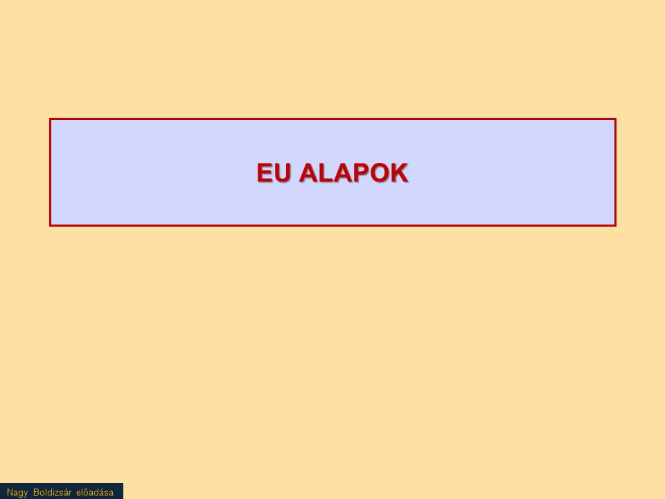 EU ALAPOK