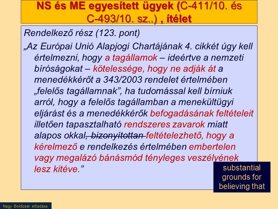 NS és ME egyesített ügyek (C‑411/10. és C‑493/10. sz..) , ítélet