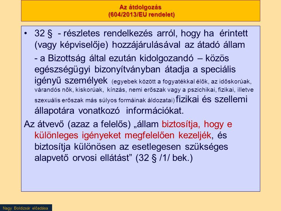 Az átdolgozás (604/2013/EU rendelet)
