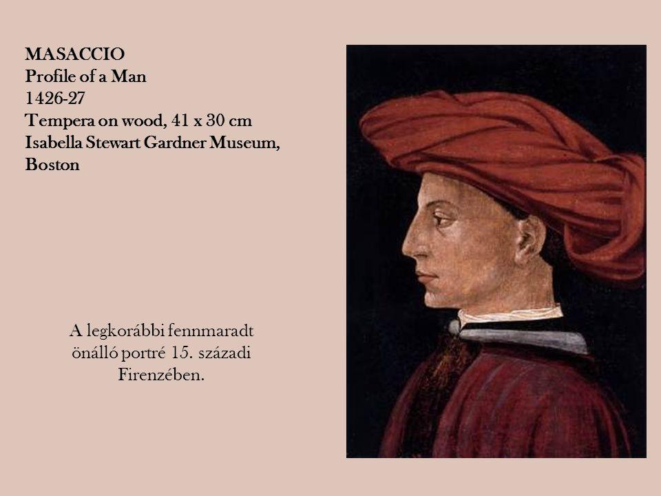 A legkorábbi fennmaradt önálló portré 15. századi Firenzében.