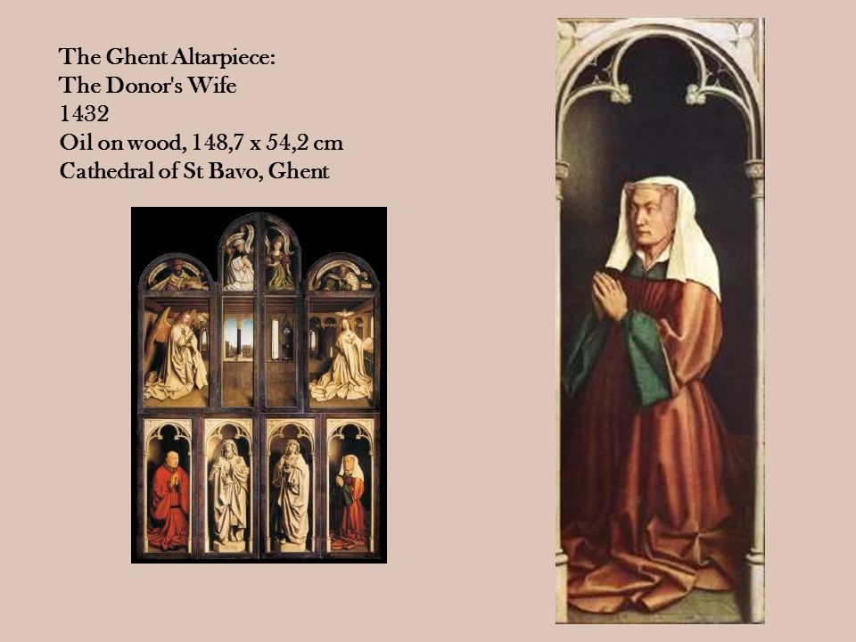 The Ghent Altarpiece: The Donor s Wife.