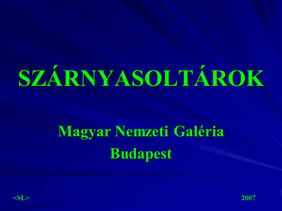 Magyar Nemzeti Galéria Budapest
