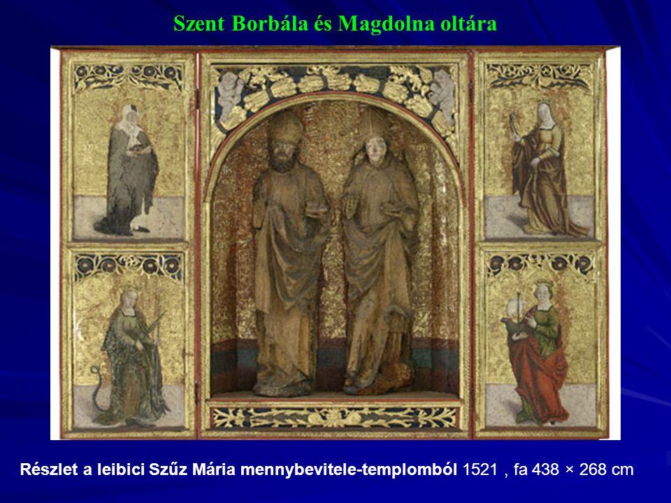Szent Borbála és Magdolna oltára