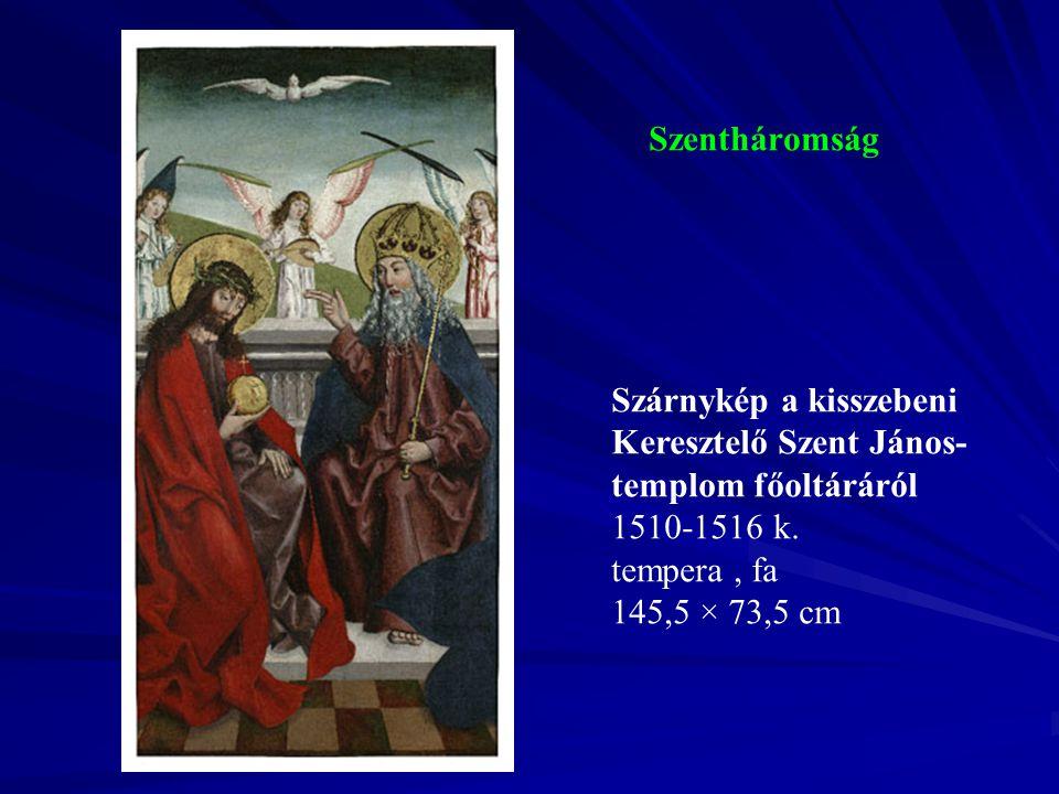 Szentháromság Szárnykép a kisszebeni Keresztelő Szent János-templom főoltáráról.