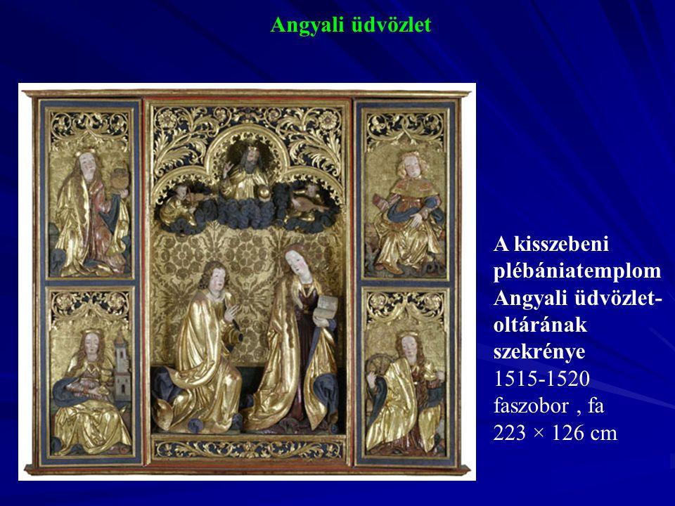 Angyali üdvözlet 1515-1520 faszobor , fa 223 × 126 cm