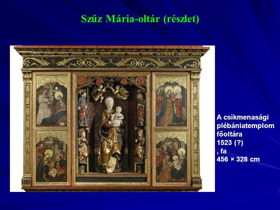 Szűz Mária-oltár (részlet)