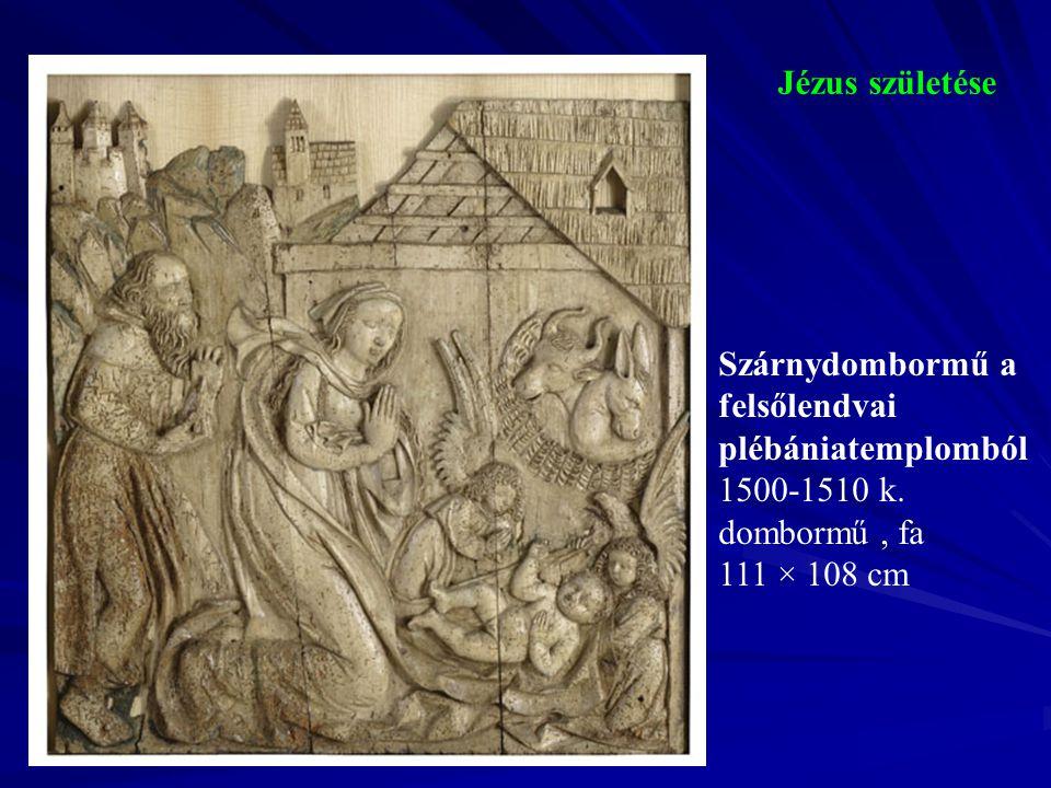 Jézus születése Szárnydombormű a felsőlendvai plébániatemplomból.