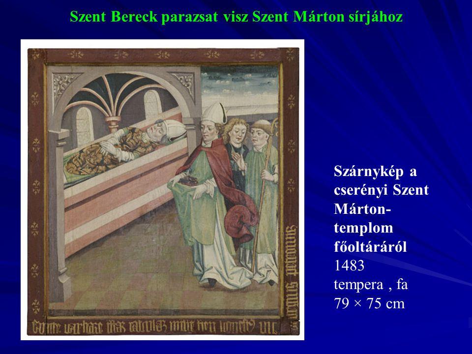Szent Bereck parazsat visz Szent Márton sírjához