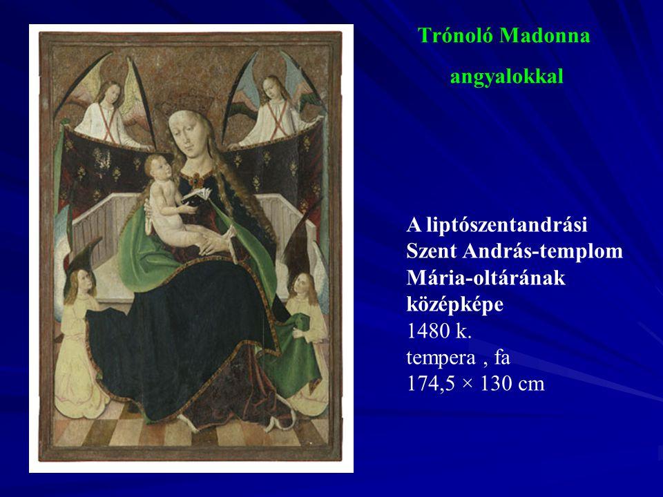 Trónoló Madonna angyalokkal