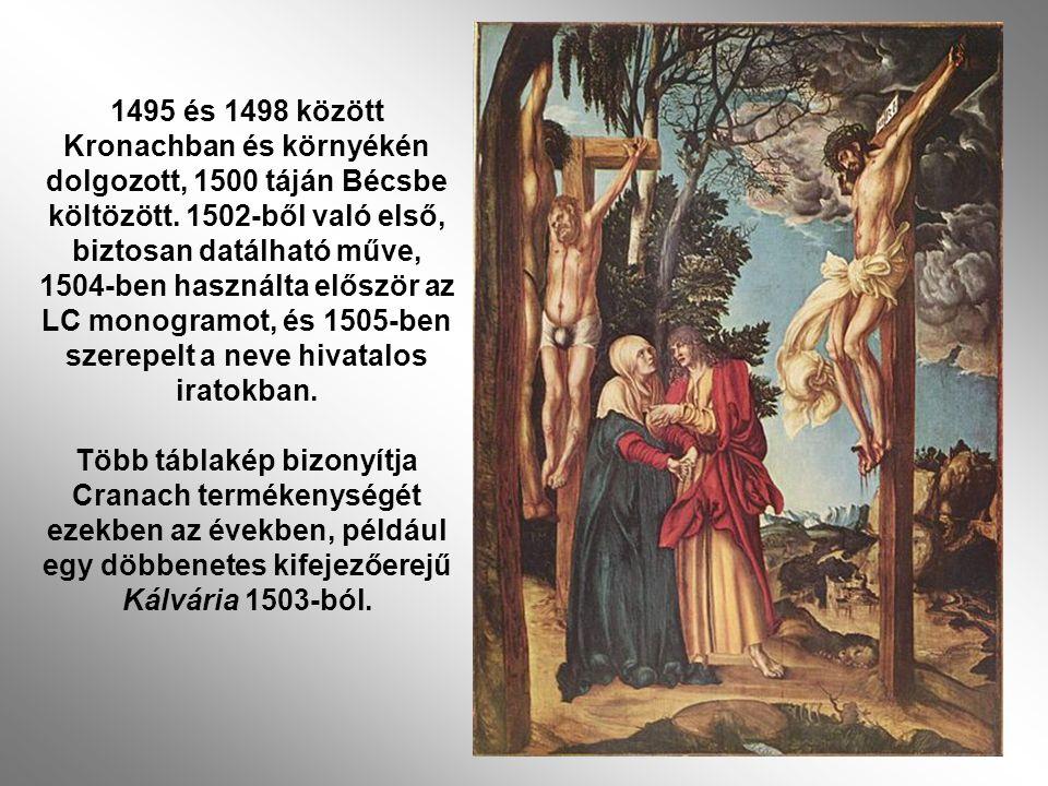 egy döbbenetes kifejezőerejű Kálvária 1503-ból.