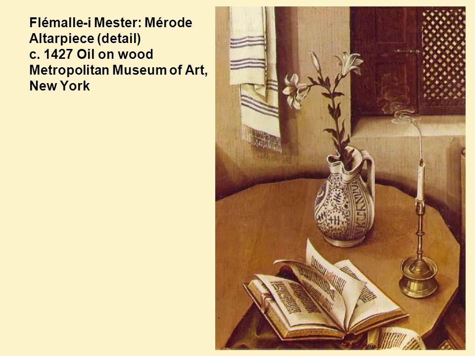 Flémalle-i Mester: Mérode Altarpiece (detail) c