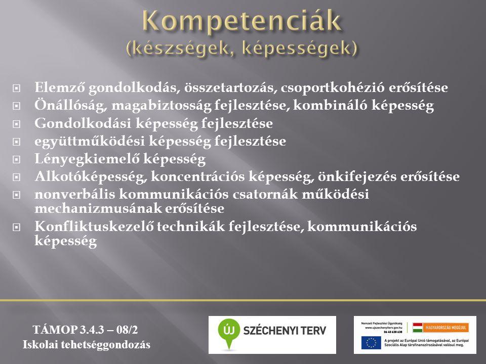 Kompetenciák (készségek, képességek)