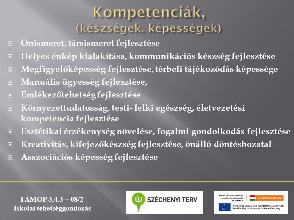 Kompetenciák, (készségek, képességek)