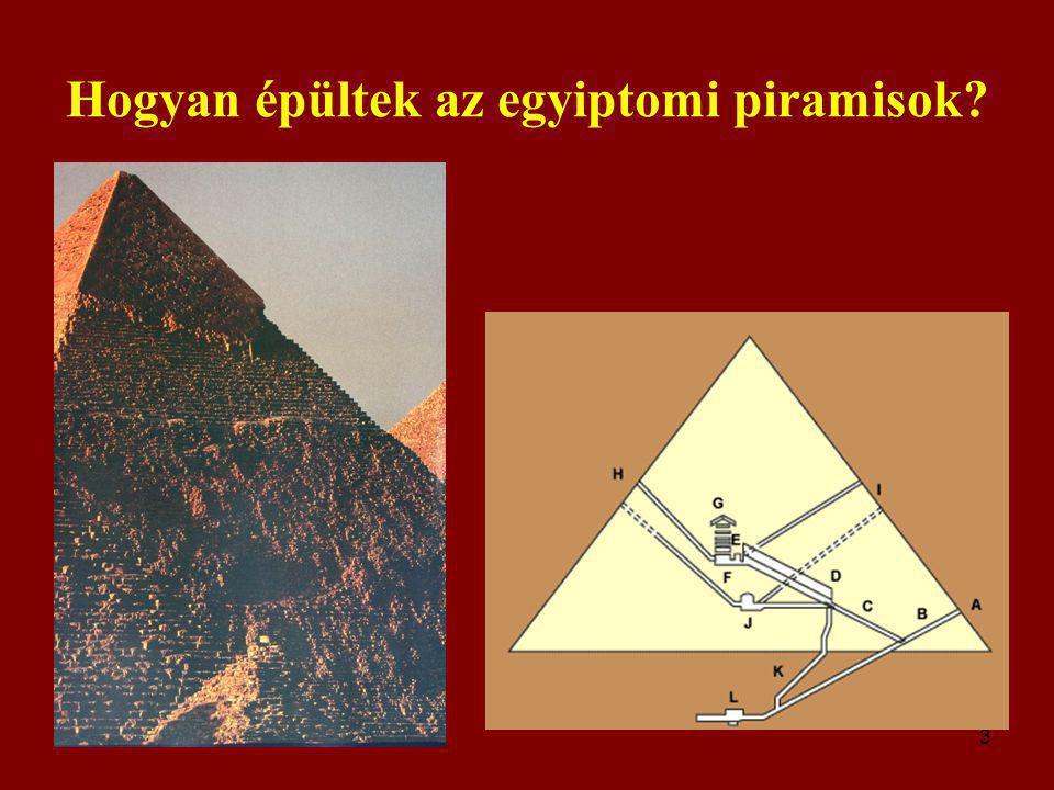 Hogyan épültek az egyiptomi piramisok