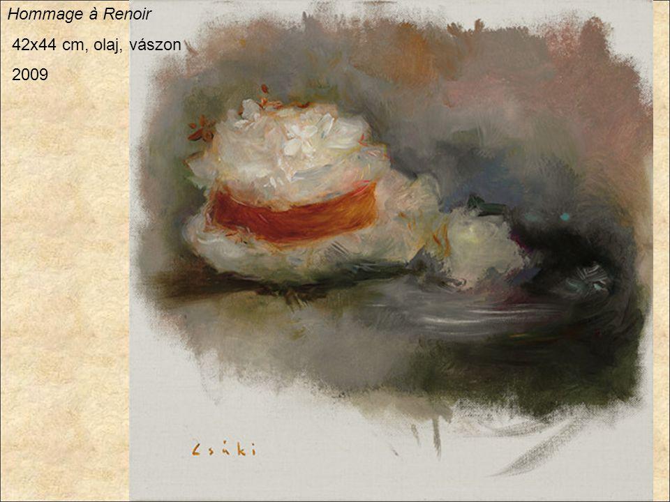 Hommage à Renoir 42x44 cm, olaj, vászon 2009