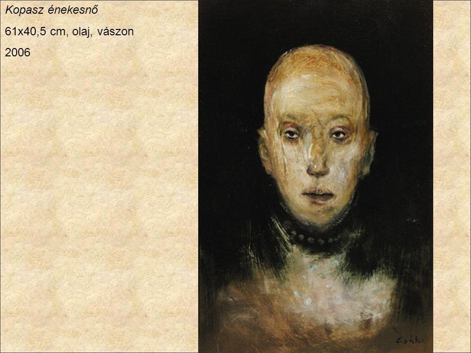 Kopasz énekesnő 61x40,5 cm, olaj, vászon 2006