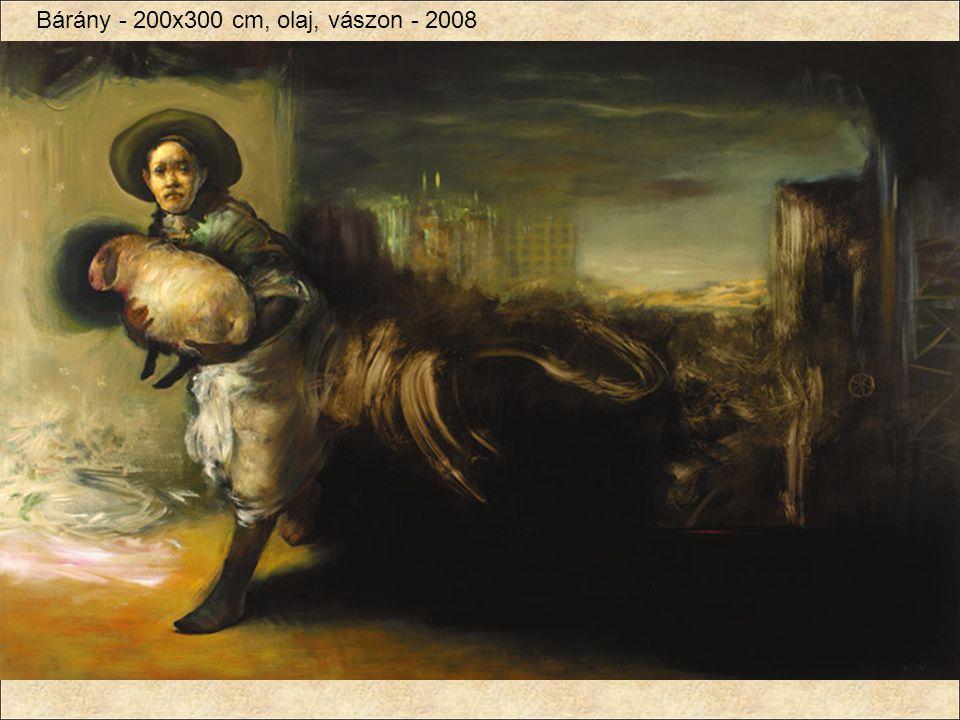 Bárány - 200x300 cm, olaj, vászon - 2008
