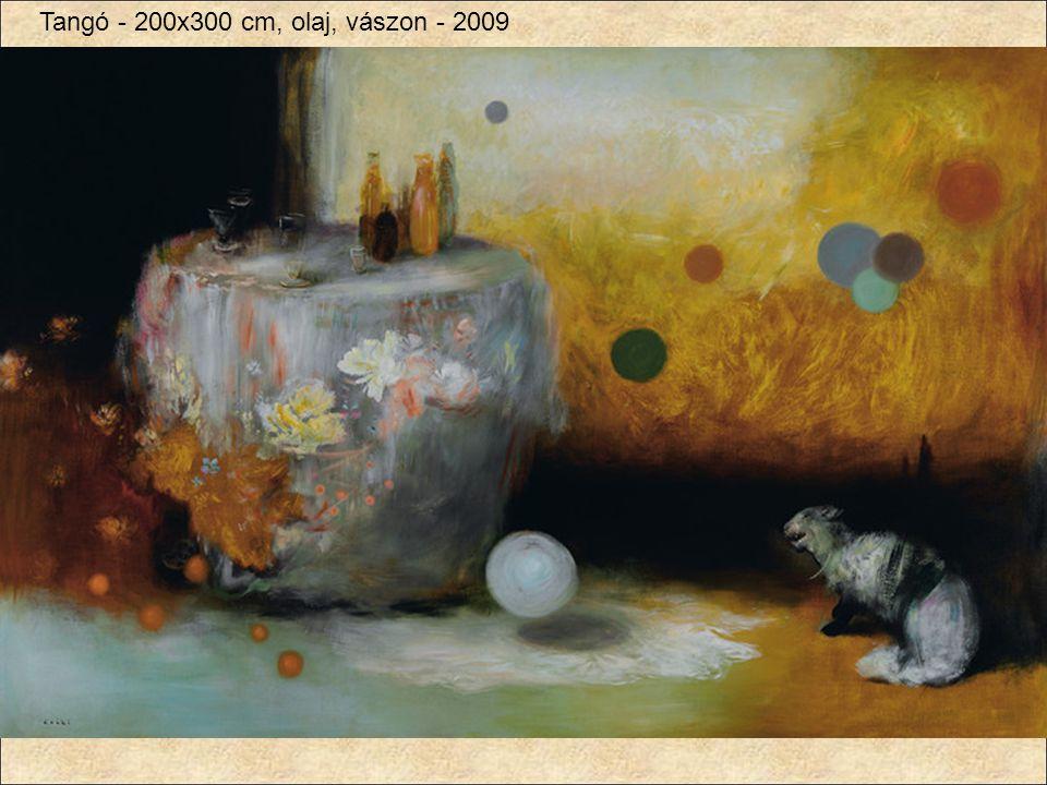 Tangó - 200x300 cm, olaj, vászon - 2009