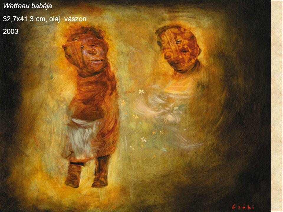 Watteau babája 32,7x41,3 cm, olaj, vászon 2003