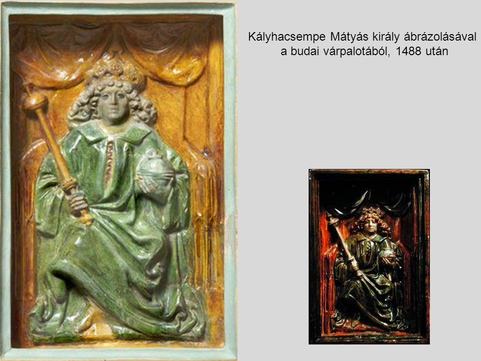 Kályhacsempe Mátyás király ábrázolásával