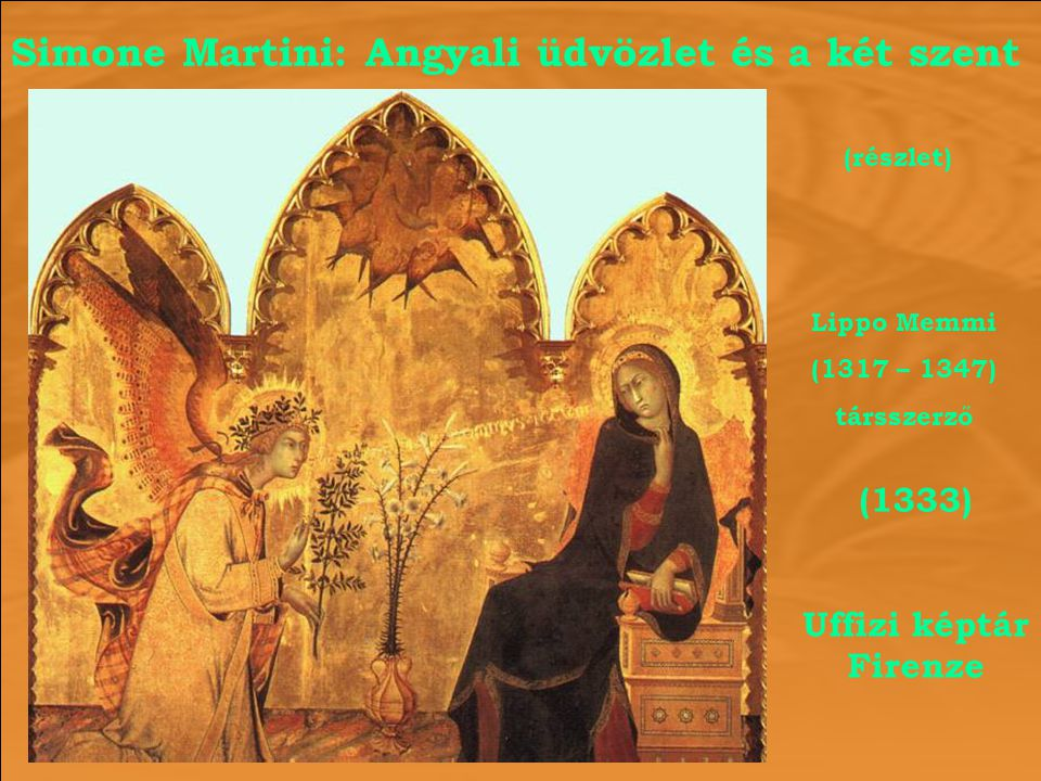Simone Martini: Angyali üdvözlet és a két szent