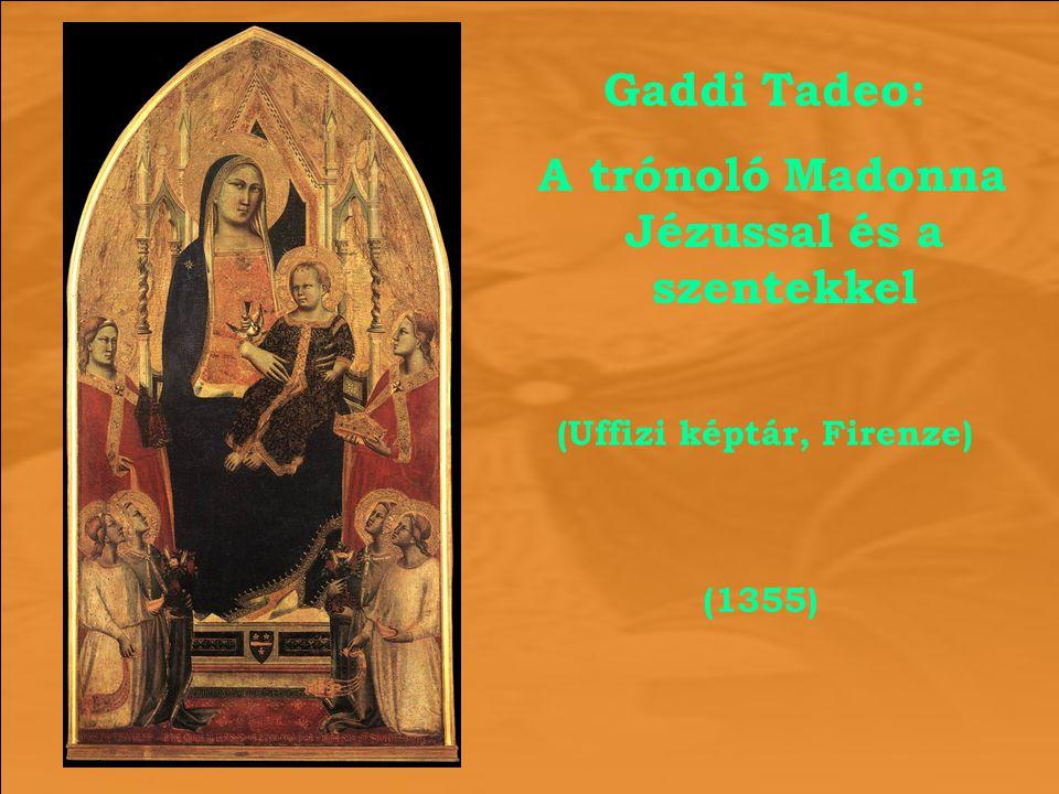 A trónoló Madonna Jézussal és a szentekkel (Uffizi képtár, Firenze)