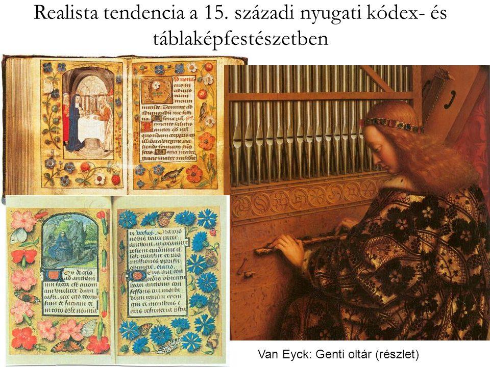 Realista tendencia a 15. századi nyugati kódex- és táblaképfestészetben