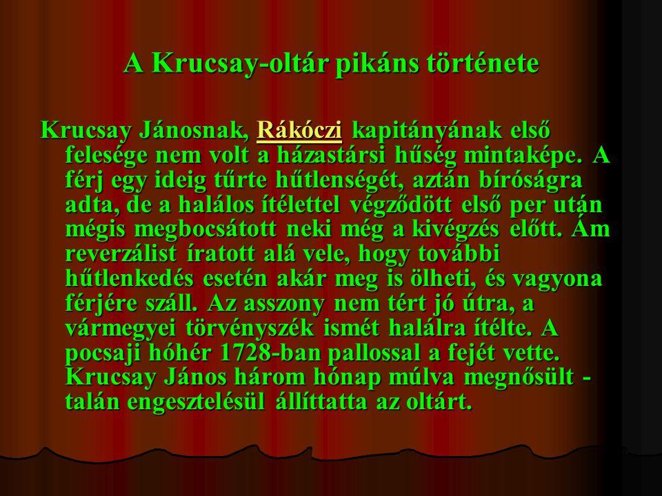 A Krucsay-oltár pikáns története