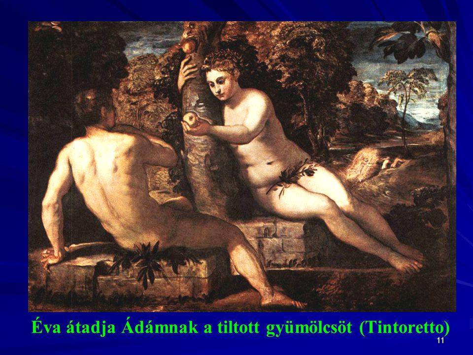 Éva átadja Ádámnak a tiltott gyümölcsöt (Tintoretto)