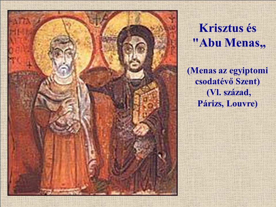 """Krisztus és Abu Menas"""" (Menas az egyiptomi csodatévő Szent) (Vl"""