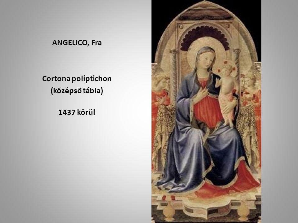 ANGELICO, Fra Cortona poliptichon (középső tábla) 1437 körül