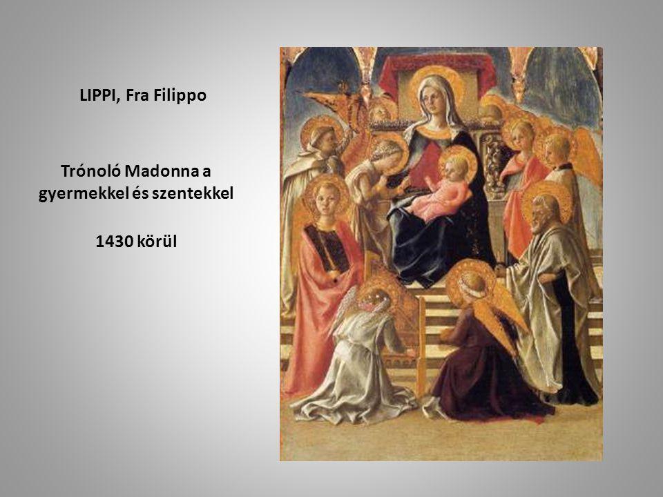 Trónoló Madonna a gyermekkel és szentekkel