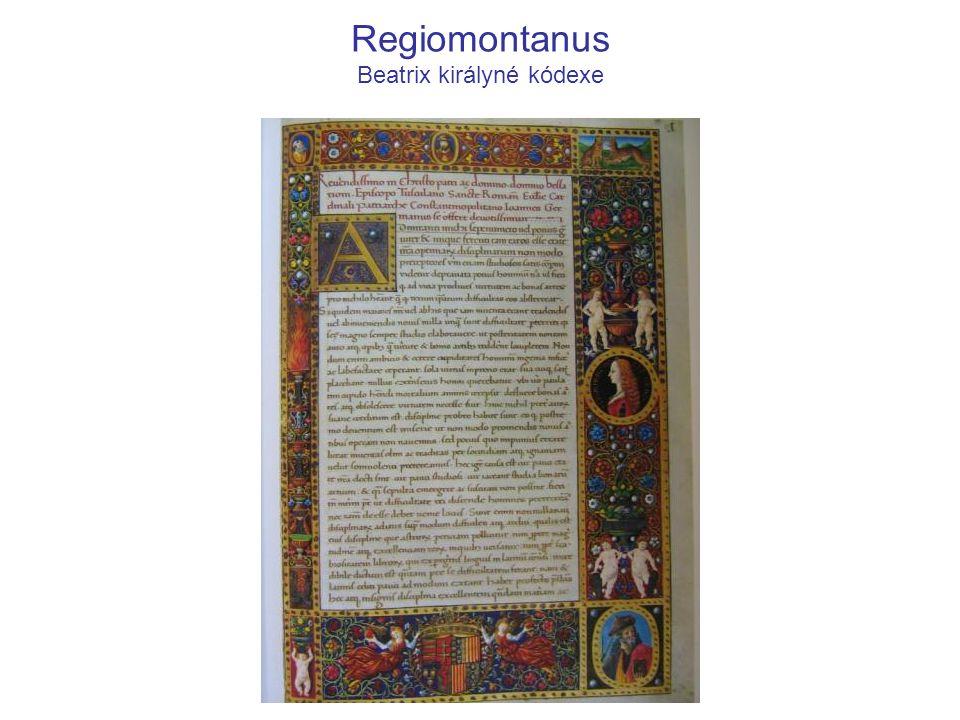 Regiomontanus Beatrix királyné kódexe
